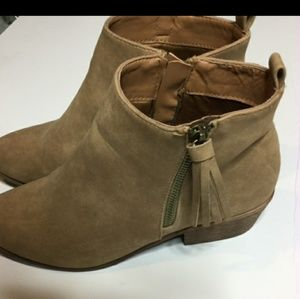 Tan booties size 8